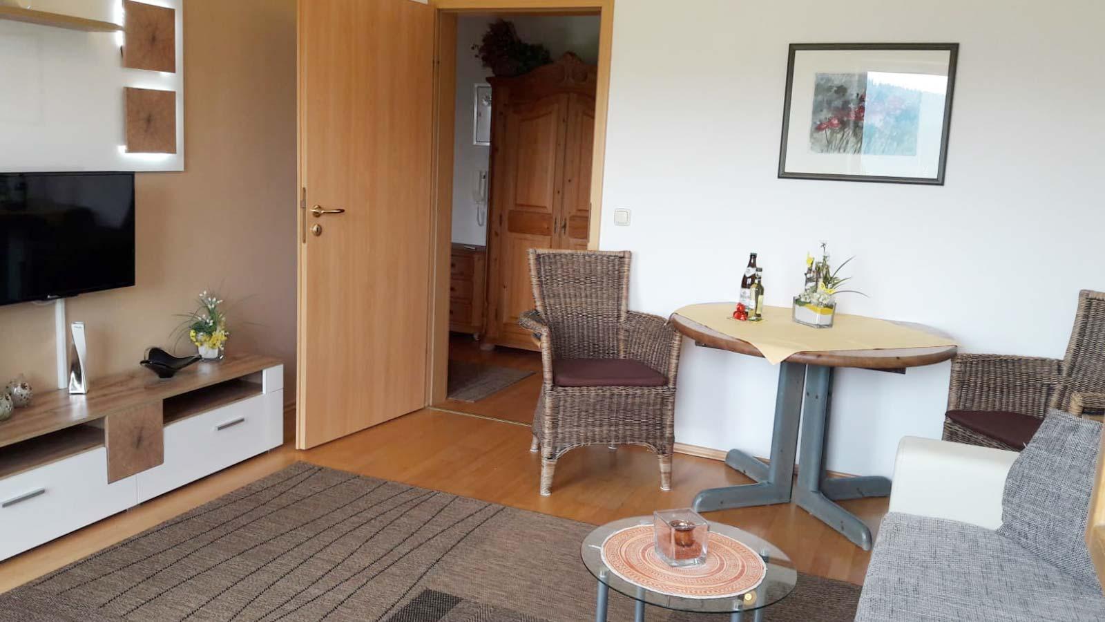 Wohnzimmer der Ferienwohnung in Bodenmais